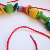 Lacing Beads by MamaMayI on Etsy