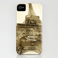 Paris Je T'aime in Sepia iPhone Case by Anna Delores | Society6
