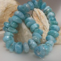 Larimar nuggets - premium polished sky blue ovals, 32.1g | larimarandsilver - Wedding on ArtFire
