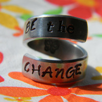 be the change aluminum spiral  ring