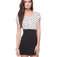 Polka Dot Combo Dress | FOREVER21 - 2011408764