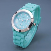 Mint Color Silicone Watch 03 by goodbuy on Zibbet