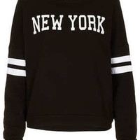 Tall New York Motif Sweat