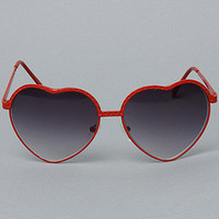 Karmaloop.com - Global Concrete Culture - The Heart Sunglasses in Red by Quay Eyewear Australia