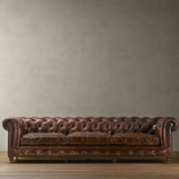 Kensington Leather Sofas | Sofas | Restoration Hardware