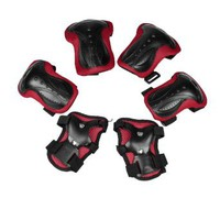 Como Skating Pads Palm Knee Elbow Support Protector Black Red for Lady Man : Amazon.com : Sports & Outdoors