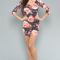 Karmaloop.com - Global Concrete Culture - The Jolene Dress in Roses Multi by Motel