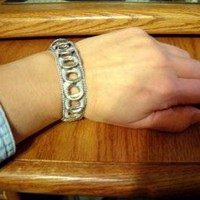 ReCycladelic Pop Top Bracelet Grey by lanmom on Zibbet