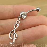 music note Belly Button Rings, infinity belly button jewelry,Navel Jewelry,music ring,friendship belly button jewelry