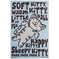Big Bang Theory Soft Kitty Poster