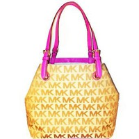 Amazon.com: Michael Kors Signature Jacquard Grab Bag Tote: Clothing