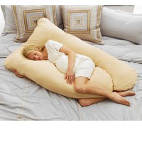 Todays Mom Cozy Comfort Pregnancy Pillow - Almond