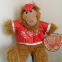 Vintage Alf Alien TV Character Plush Burger King Promo Hand Puppet 10 Inch 1988