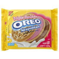 Triple Double Oreo Neapolitan Creme Sandwich Cookies, 13.1 oz, 2 Packs