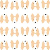 Corgi Head Pattern Art Print by Tiffbits