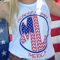 Marley Lilly Monogrammin' 'Merica Promo Tank | Marley Lilly