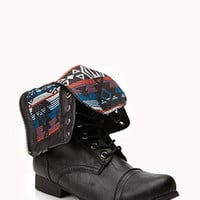 Southwest Bound Fold-Over Combat Boots