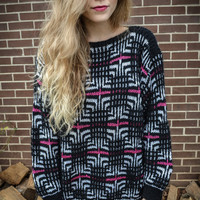 Customizable Vintage Pink Black White Oversized by RepeatClothing