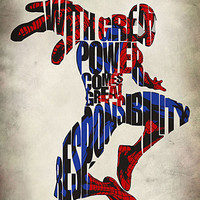 Spider-Man Inspired Minimalist Typographic Print and Poster