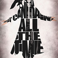 The Crow Inspired Brandon Lee Typographic Print and Poster
