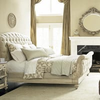 Jessica McClintock White Veil Queen Sleigh Bed