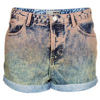MOTO Dip Dye Peach Hotpants - Denim  - Clothing