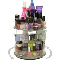 "Cosmetic Organizer ""New MINI ""that Spins..Only 10"" of Countertop. More than Doubles Your Storage, No More Clutter!! Just A Spin and Everything is at Your Fingertips. Includes Clear Tube Holder on top For Makeup Brushes, Etc. Proudly Made in the USA! by PPM"