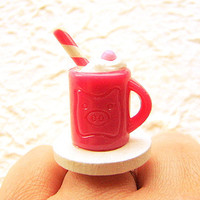 Hot Chocolate Ring Miniature Food Jewelry
