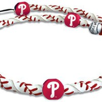 MLB Philadelphia Phillies Classic Frozen Rope Baseball Necklace