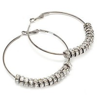 Basketball Wives Hoop Earrings - Diamond