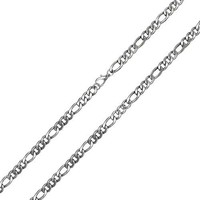 Bling Jewelry 4.5mm Men Stainless Steel Figaro Chain Necklace 24in
