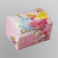 Girl's Princess Trinket Box , Childrens Jewelry Box, Disney Cinderella, Belle & Sleeping Beauty