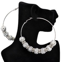 Basketball Wives Paparazzi Ball Earrings Ier2009 Silver 83mm