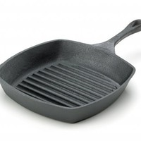 Emeril 10-Inch Cast-Iron Square Grill Pan