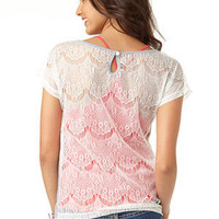 dELiAs &gt; Keyhole Lace Back Tee &gt; tops &gt; view all tops