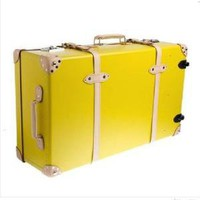 "J Crew Globe-Trotter Centenary 33"" extra-deep suitcase with wheels"
