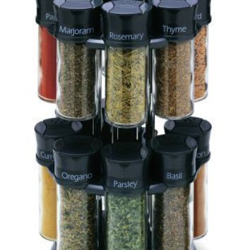 Olde Thompson 16-Jar Carousel Spice Rack