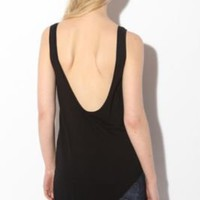 Sparkle & Fade Slant Scoop Back Tunic Tank Top