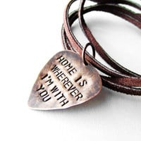 Guitar Pick Necklace with SONG LYRICS from  by WyomingCreative