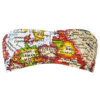 Map Print Bandeau - Topshop USA