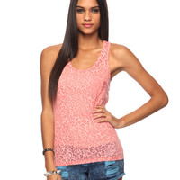 Burnout &amp; Lace Tank | FOREVER21 - 2015035026