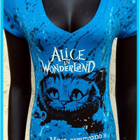 DiY Alice in Wonderland Top Cheshire Cat Tim Burton You choose the size