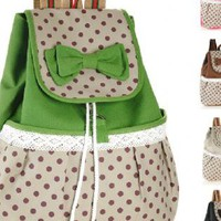 Canvas Lace Bowknot Backpack