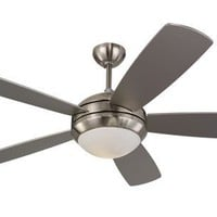 Monte Carlo 5DI52BSD-L Discus 52-Inch Contemporary Ceiling Fan with Light Kit and Five Silver Blades, Brushed Steel:Amazon:Home Improvement