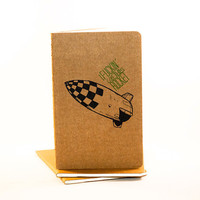 SALE  I F like this Rocket  Moleskine Cahier by JulienDenoyer