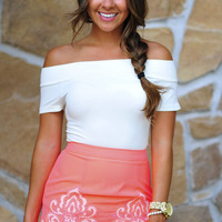 All In The Details Skirt: Neon Coral | Hope's