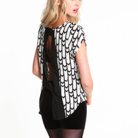 Modern Art Chevron Blouse