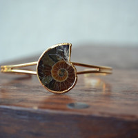 LUX Divine Ammonite Gemstone Bracelet /// Gold by luxdivine