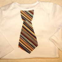 Business tie shirt or Onesuit for boys by LittleMadamtutu on Etsy