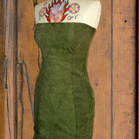 leather dress  green by saravah on Etsy